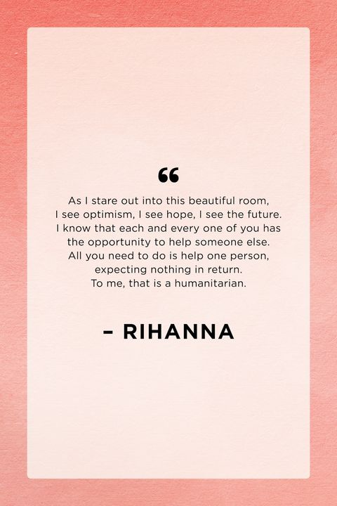 rihanna harvard graduation humanitarian award speech quote