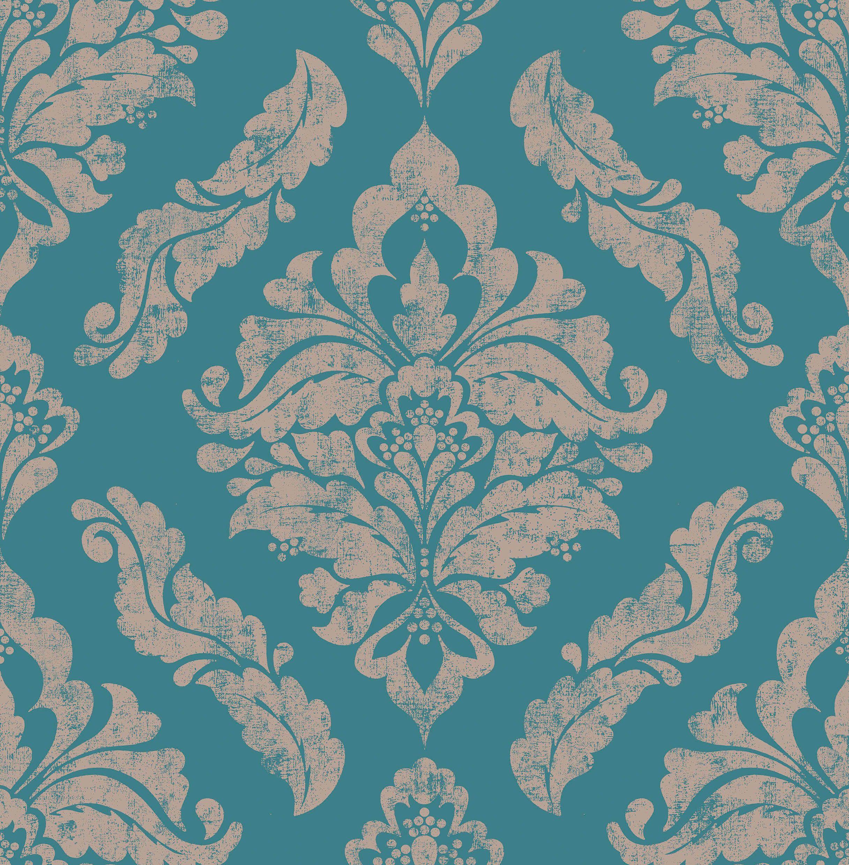 Graham & Brown Boutique Damaris Wallpaper Turquoise