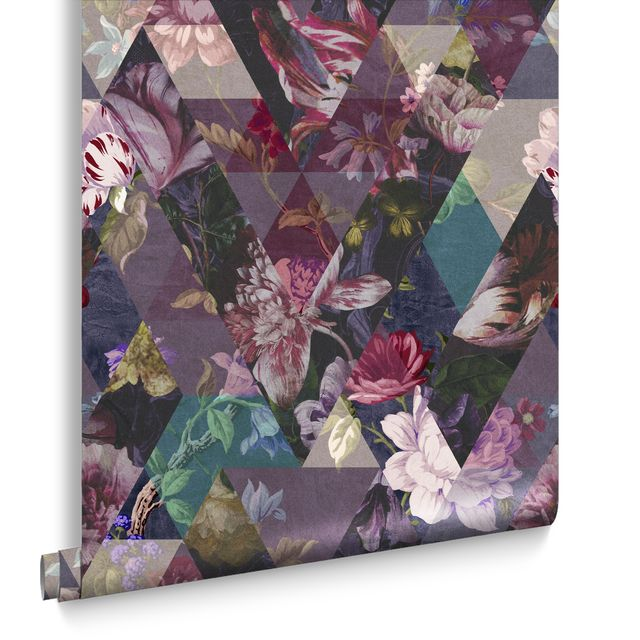 graham  brown wallpaper of the year 2021   timepiece amethyst, £60 per roll 2