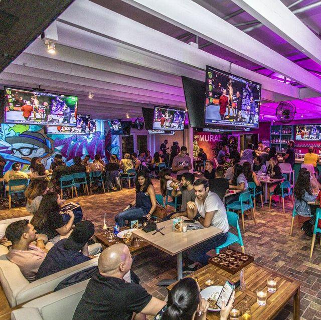Purple, Leisure, Building, Event, Interior design, Photography, Restaurant, Magenta, Games, City,
