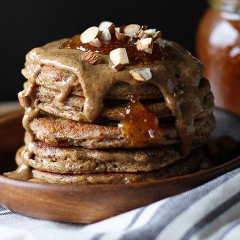 Grain-Free Almond Butter Protein Pancakes
