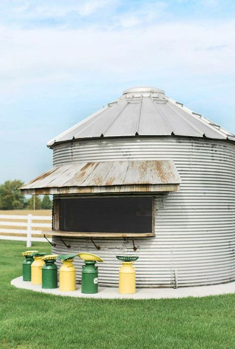 grain silo outdoor kitchen