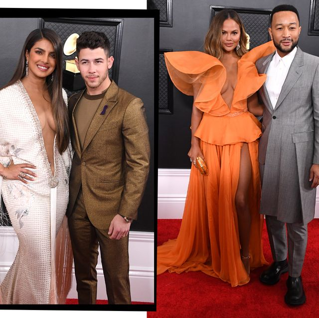 grammy awards 2020 best red carpet couples from chrissy teigen and john legend to priyanka chopra and nick jonas grammy awards 2020 best red carpet