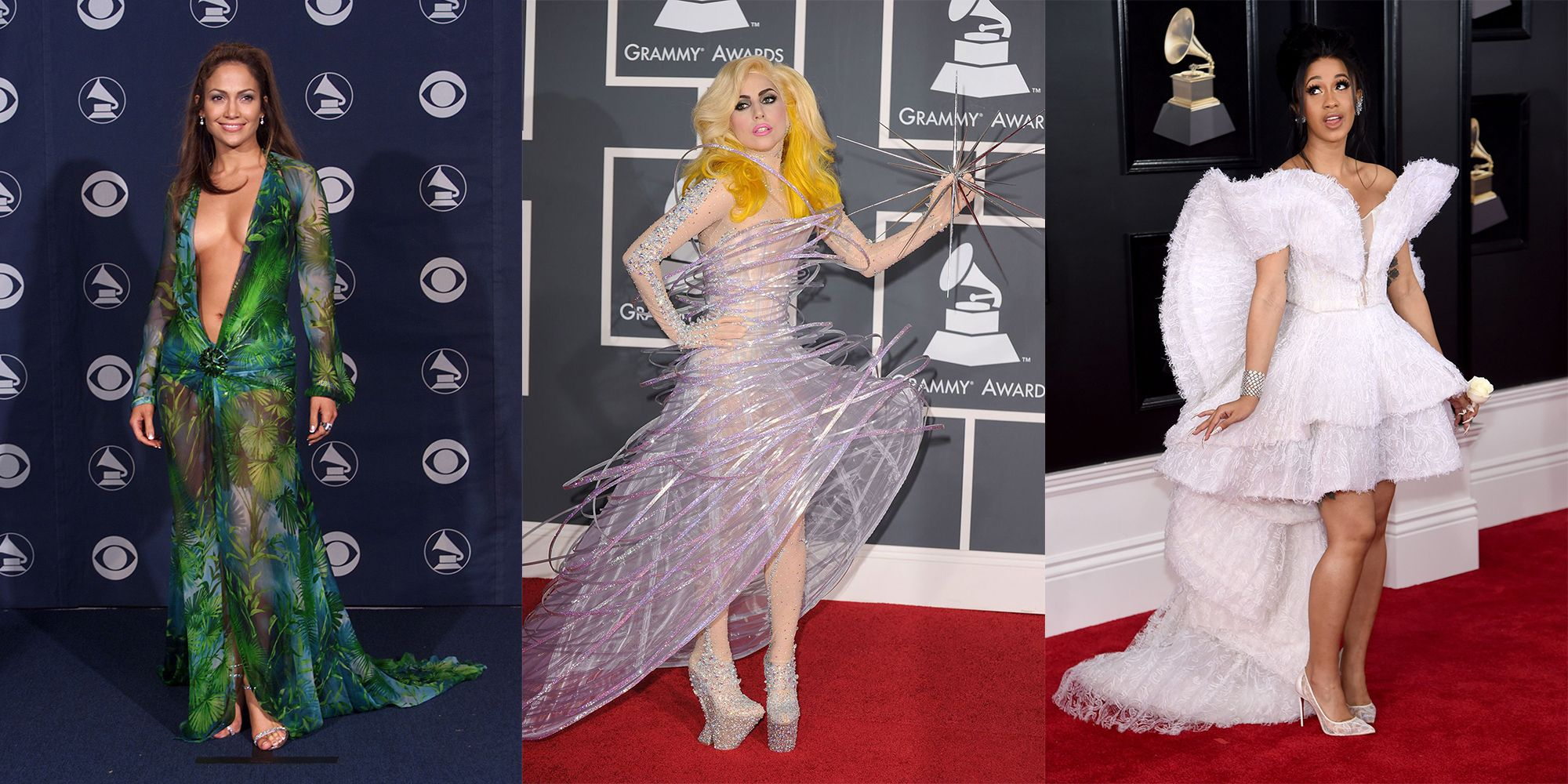 the 42 craziest looks in the history of the grammys red carpet grammys red carpet