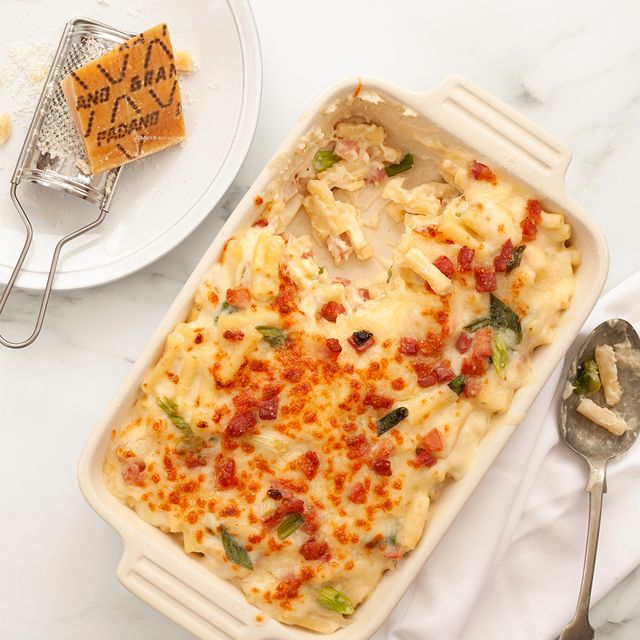 grana padano and pancetta mac  cheese