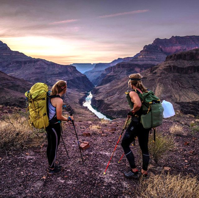 friends competing in the 2020 grand canyon alt fkt in october 2020