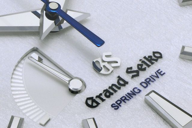 grand seiko spring drive dial closeup