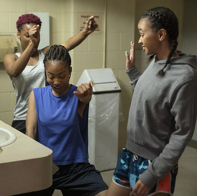 grand army l to r brittany adebumola as tamika jones, odley jean as dominique pierre and naiya ortiz as sonia cruz in episode 101 of grand army cr jasper savagenetflix © 2020