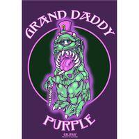 Marijuana strain poster Grand Daddy Purple from Califari