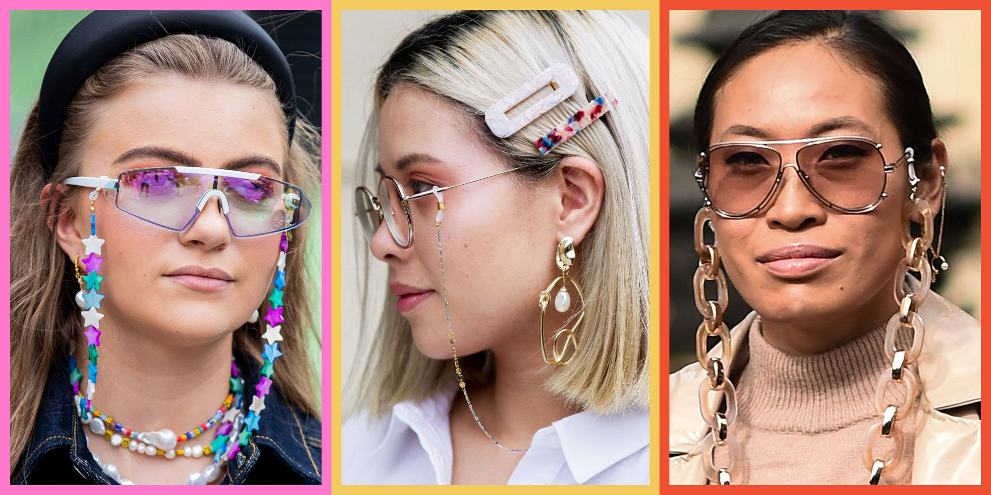 Glasses Chain Fashion Accessory Trend - Sunglasses Chains Fall 2019