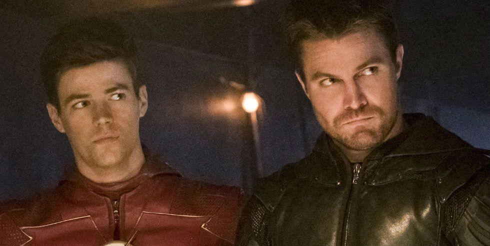 Barry Allen and Oliver Queen in Arrow