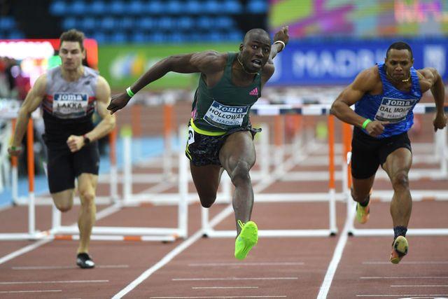 grant holloway bate el récord mundial de 60m vallas en madrid