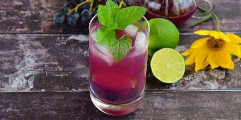 Grape lime mint refreshing drink