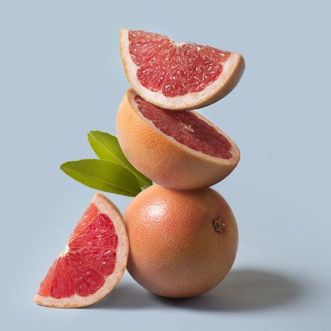 Grapefruit close up still life.