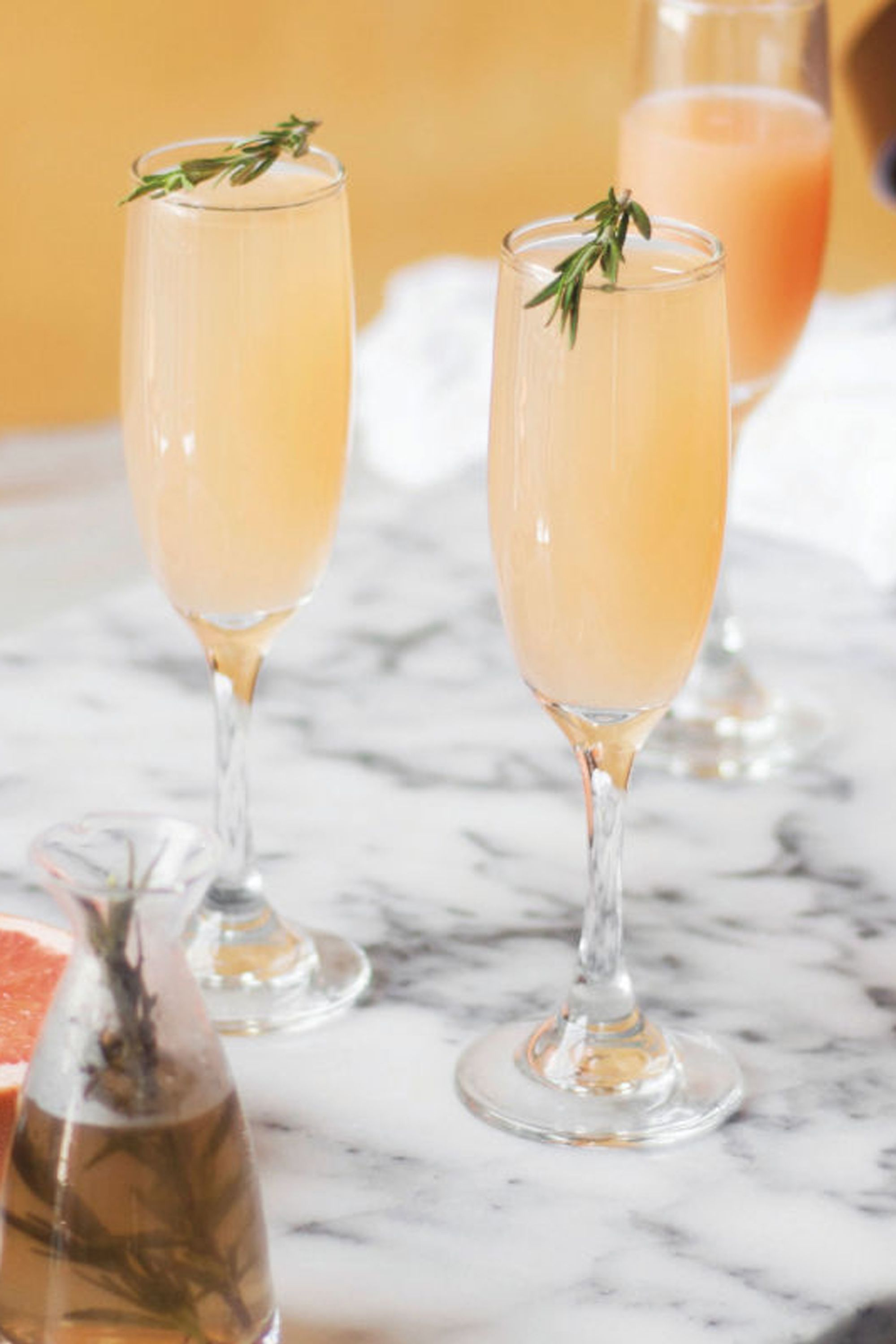 grapefruit rosemary mimosa