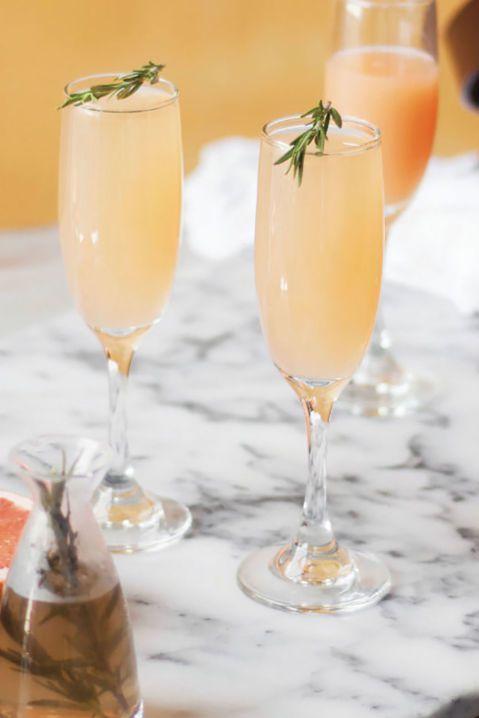 grapefruit and rosemary mimosa