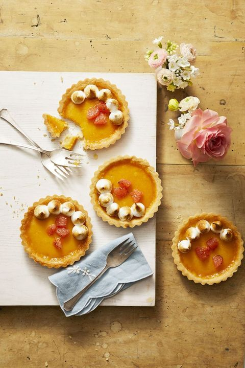 Ruby Red Grapefruit Tartlets - Easter Dinner Menus