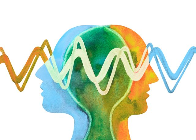 graphic painting telepathy understanding empathy