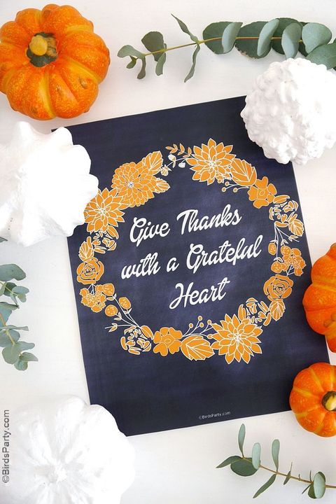 grateful heart sign thanksgiving decorations