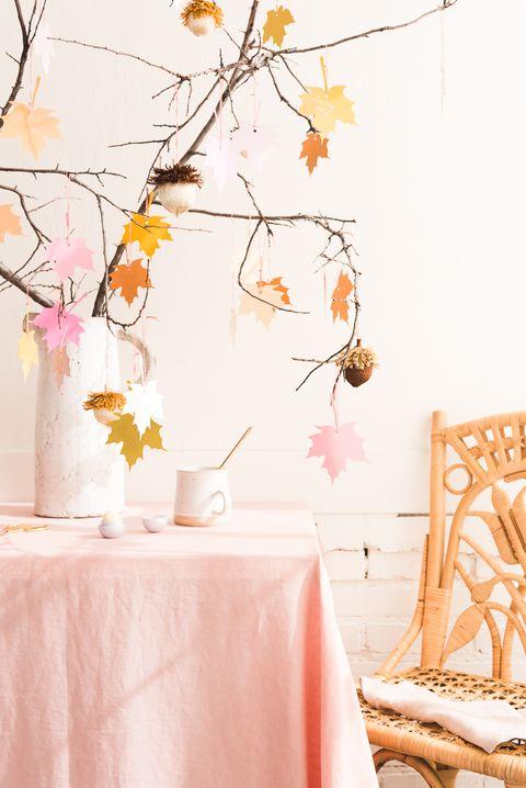 gratitude tree with acorns thanksgiving tree ideas