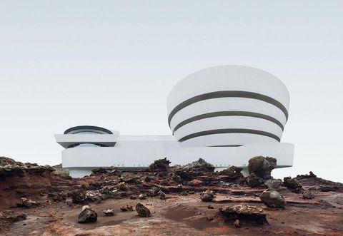 Architecture, Sky, Landscape, Rock, Observatory,