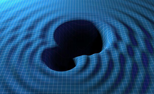 gravitational waves from black holes, illustration