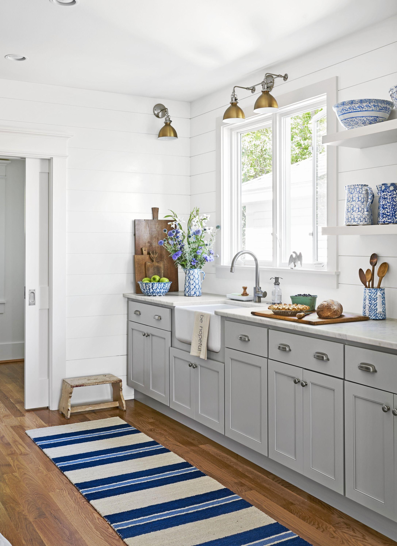 White Flower Design Hand Painted Ceramic Door Knobs Kitchen