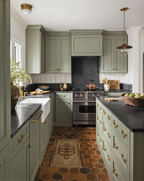 Painted Country Kitchen Cabinets 26 Kitchen Color Ideas   Best Kitchen Paint Color Schemes