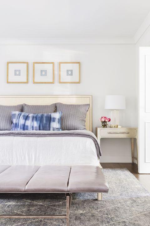 gray guest bedroom
