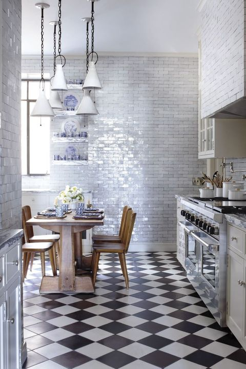Room, Tile, White, Furniture, Floor, Kitchen, Interior design, Property, Wall, Building,