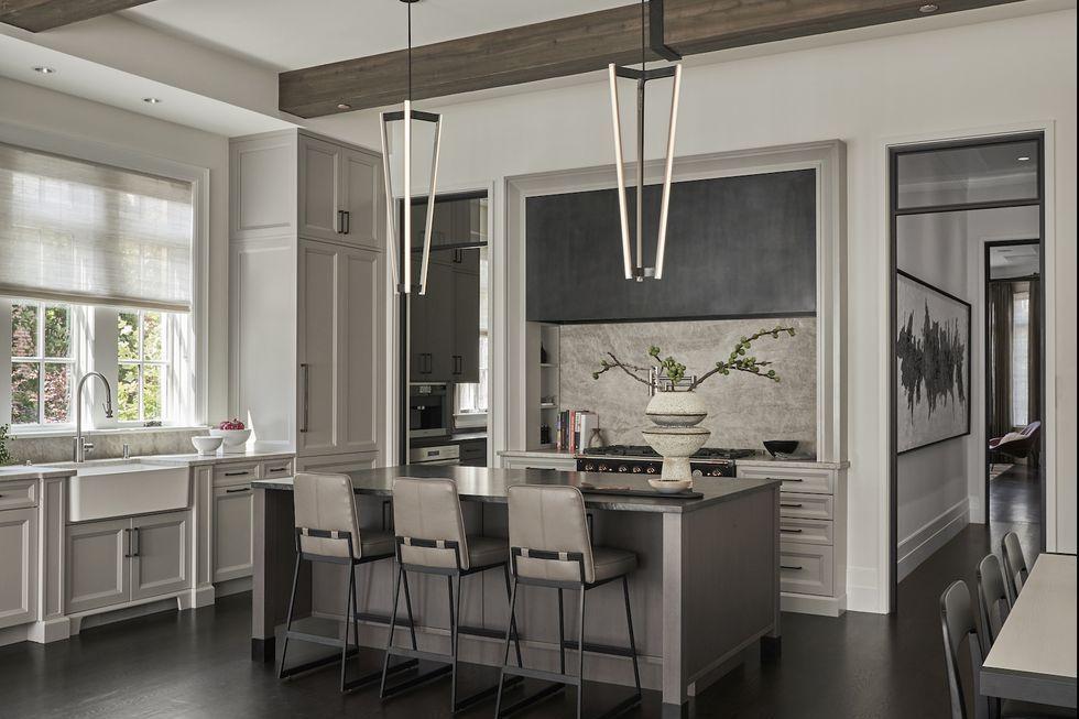 32 Best Gray Kitchen Ideas - Photos Of Modern Gray Kitchen Cabinets & Walls