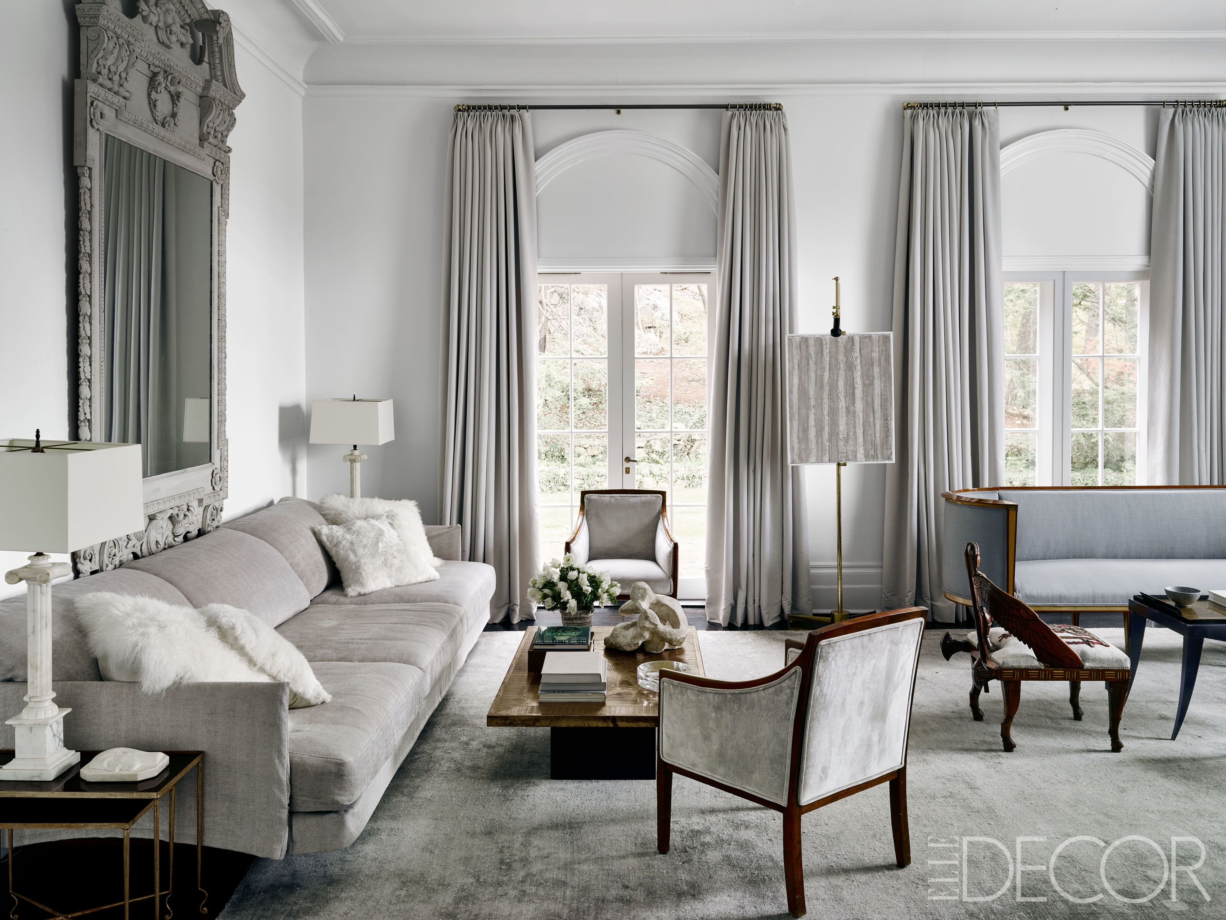 gray living rooms & 27 Gorgeous Gray Living Rooms - Gray Decor Ideas for Living Rooms