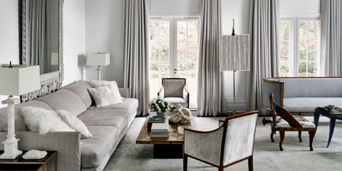 27 best gray living rooms ideas how to use gray paint - How to decorate a gray living room ...