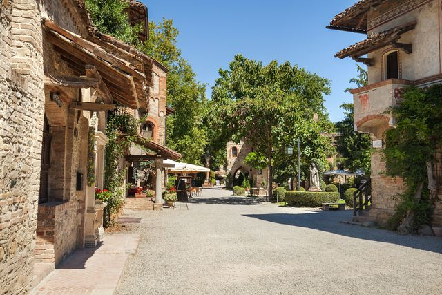 grazzano visconti   a village in medieval style, built between 1900 and 1941 now it is a city of artisans