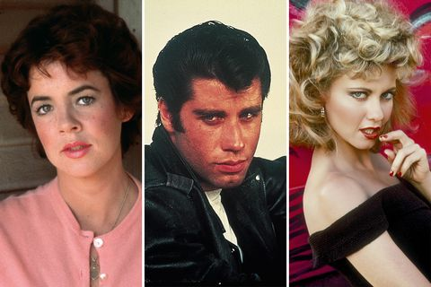 stockard channing, john travolta, olivia newton john grease
