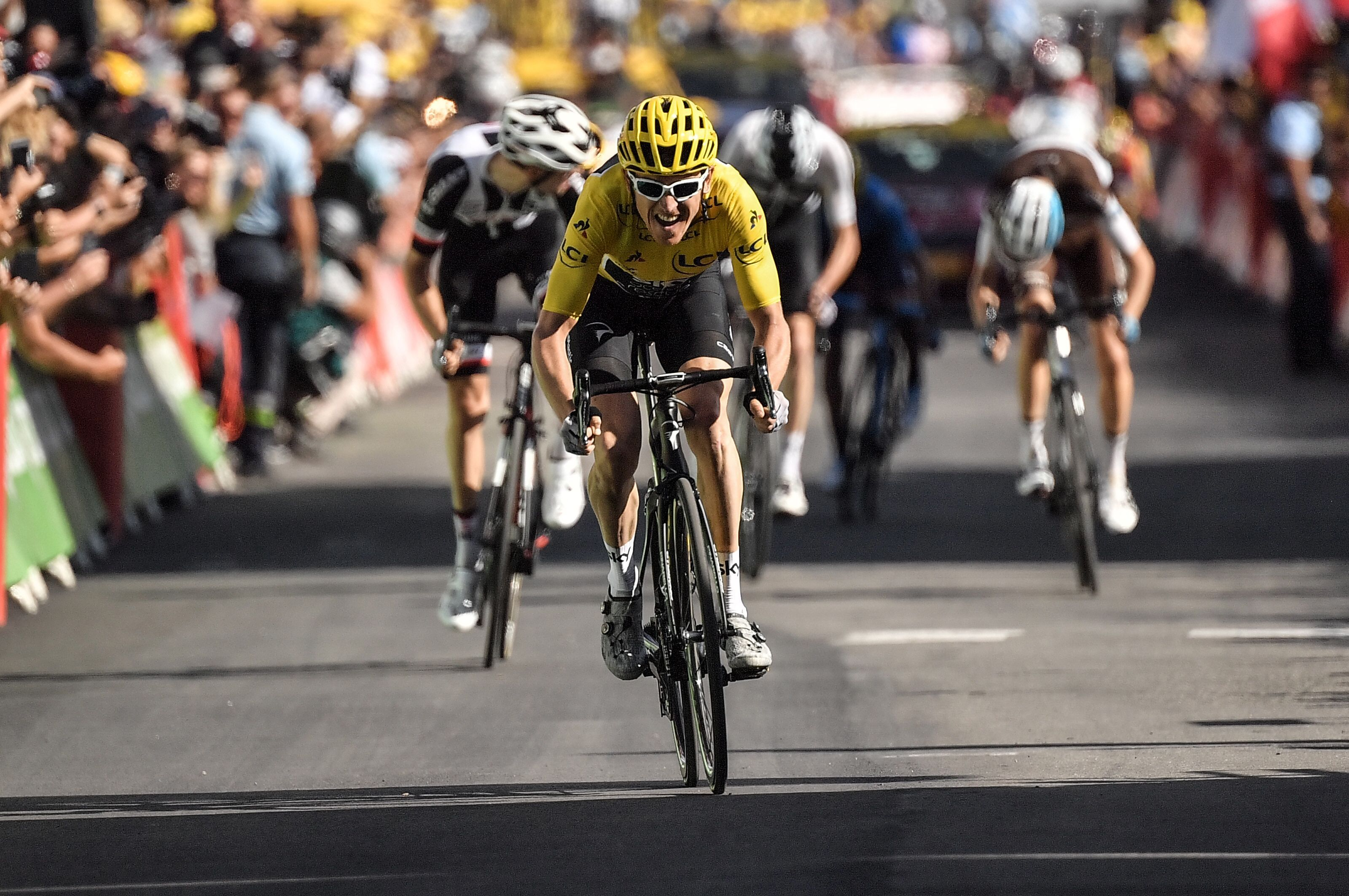 3faebb1ab Geraint Thomas Wins Tour de France Stage 12