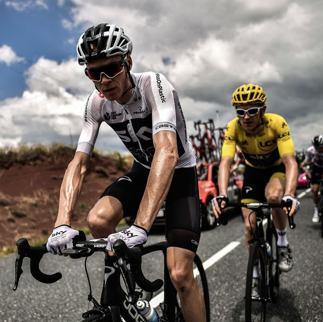 chris froome and geraint thomas at the 2018 tour de france