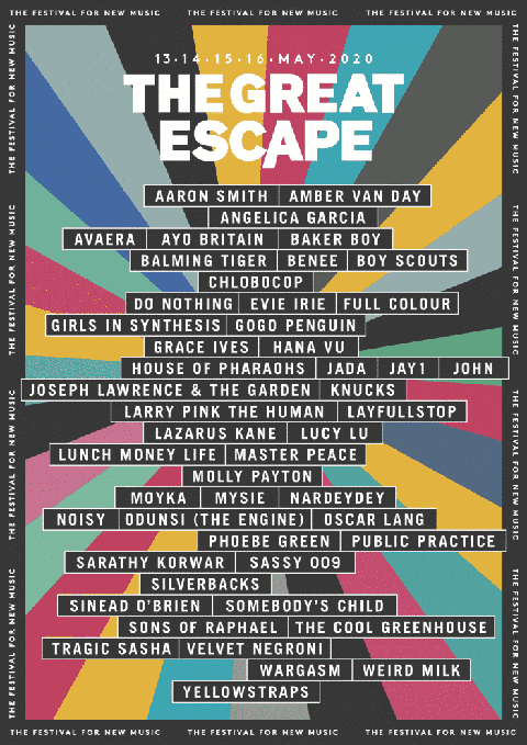 Great Escape 2020 lineup
