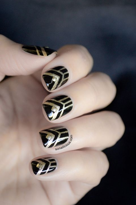 'Great Gatsby' Nails halloween nails