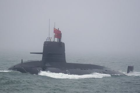 "Chinese Navy Type 093A ""Yuan"" conventionally powered submarine. China will reportedly build 28 Type 093As."