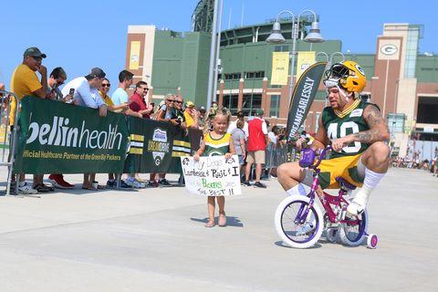 2f4b76ac Green Bay Packers Bike Ride - Bike Safety for Kids