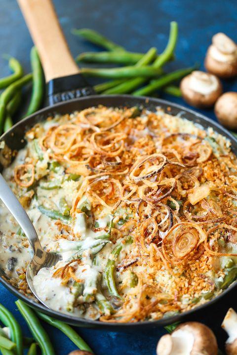 green bean casserole crispy shallots
