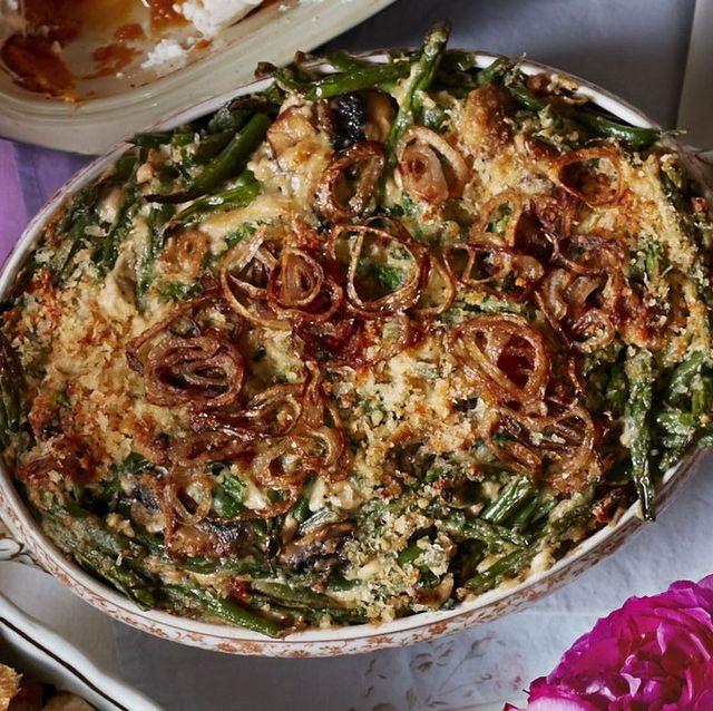 green bean casserole shallots