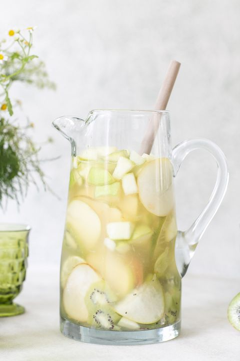 green cocktails whiskey sangria