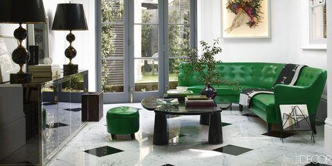 13 Green Living Room Ideas - Green Decor Inspiration for Living Room
