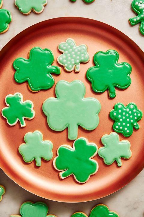 green foods - shamrock cookies