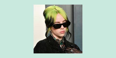 green hair color ideas billie eilish