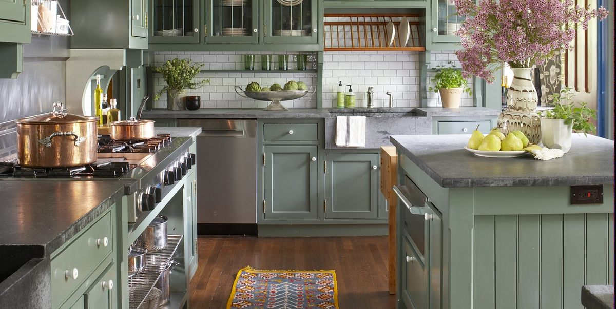 31 Green Kitchen Design Ideas - Paint Colors for Green ...