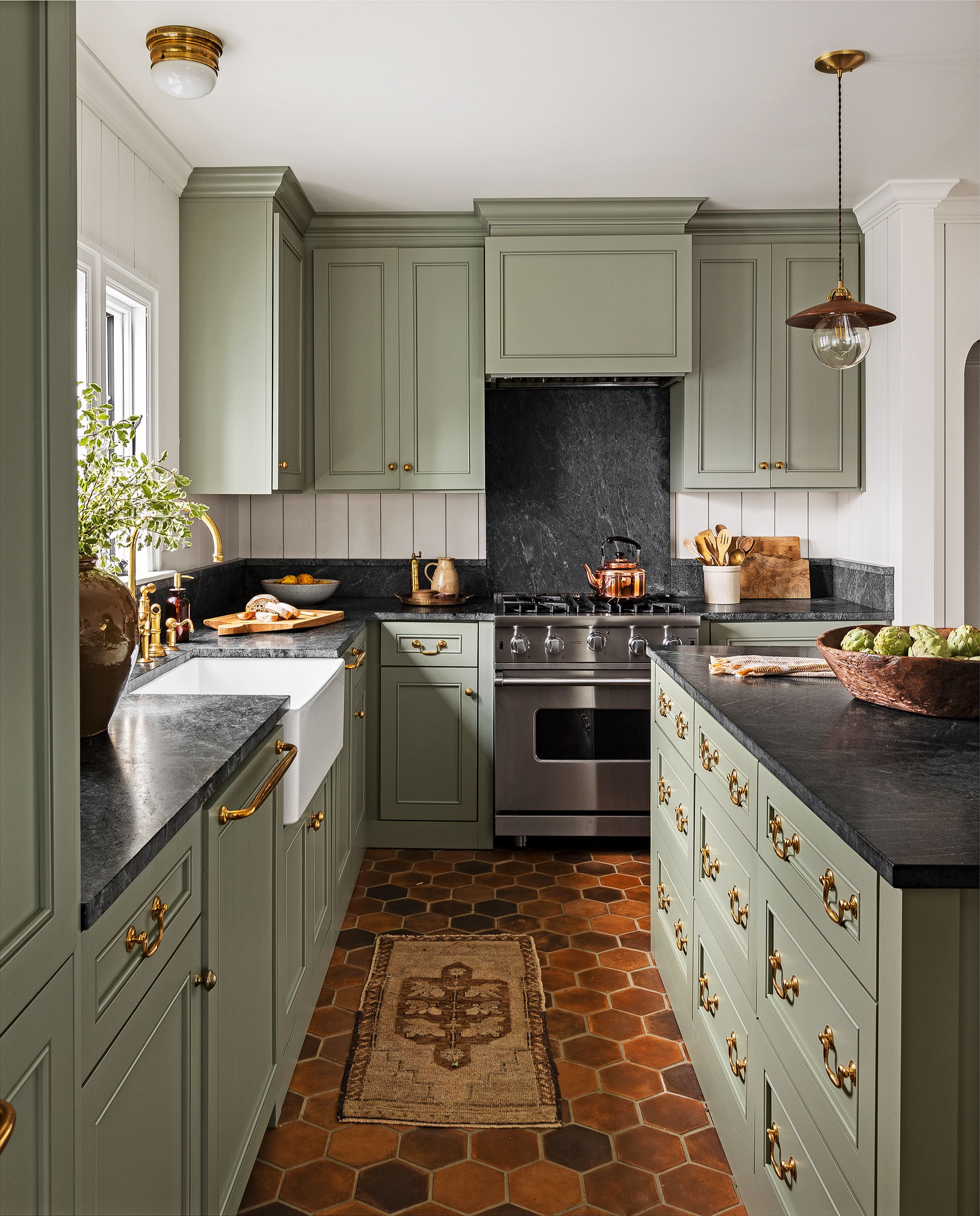 15 best green kitchen cabinet ideas - top green paint colors