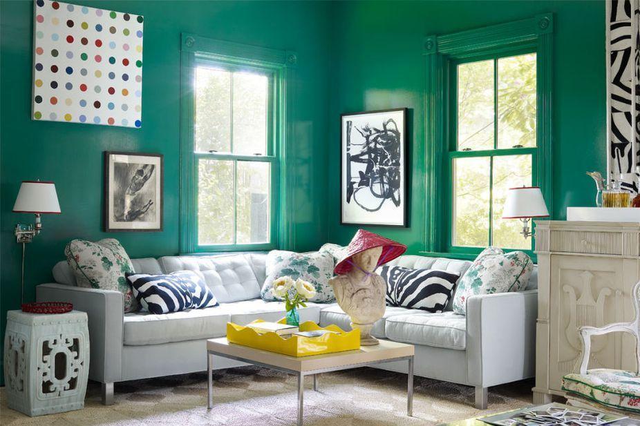 Fresh Green Living Room Ideas Concept